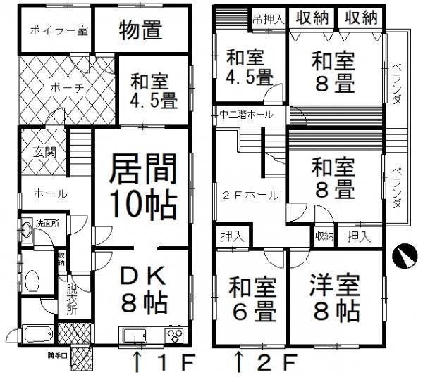 中古戸建 釧路市愛国東2丁目 JR根室本線釧路駅 860万円