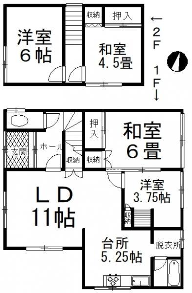 中古戸建 釧路市白樺台2丁目 JR根室本線釧路駅 140万円