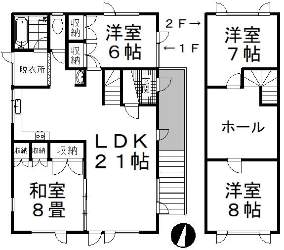 中古戸建 釧路市大楽毛 JR根室本線釧路駅 200万円