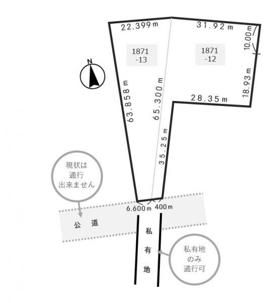 土地 北海道夕張郡長沼町字馬追1871番12、13 JR室蘭本線古山駅 980万円