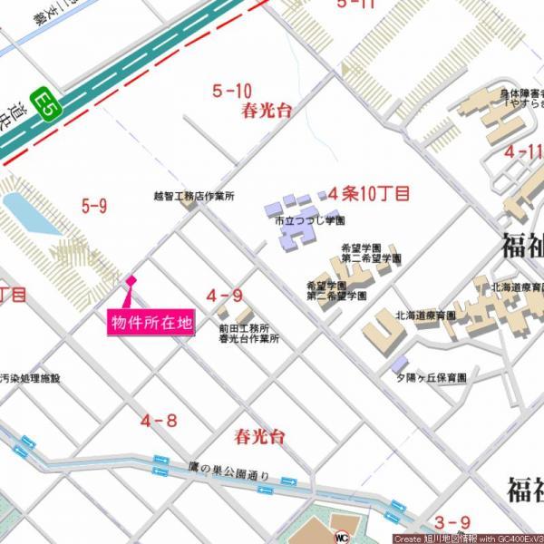 土地 旭川市春光台四条9丁目5番9、10 JR函館本線旭川駅 75万円