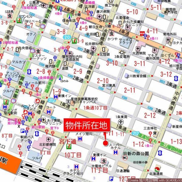 中古マンション 旭川市宮下通11丁目 JR函館本線旭川駅 680万円