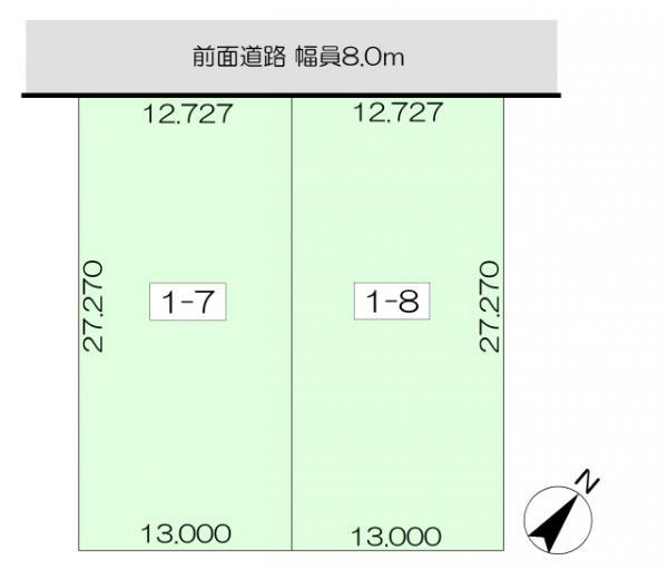 土地 北海道旭川市春光台五条3丁目1-8 JR函館本線旭川駅 80万円