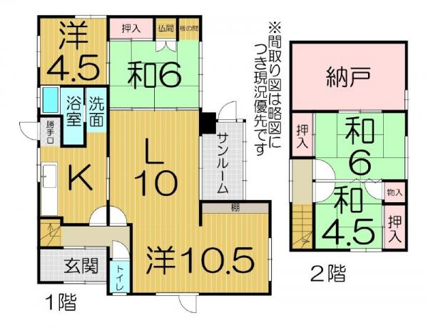 中古戸建 北海道登別市栄町3-6-13 駅 300万円