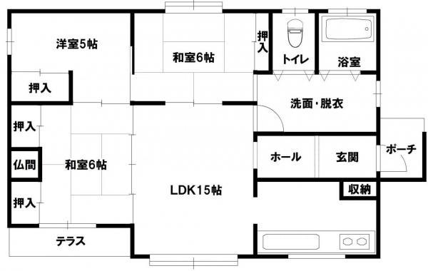 中古戸建 青森市大字石江字岡部 JR奥羽本線新青森駅 1200万円