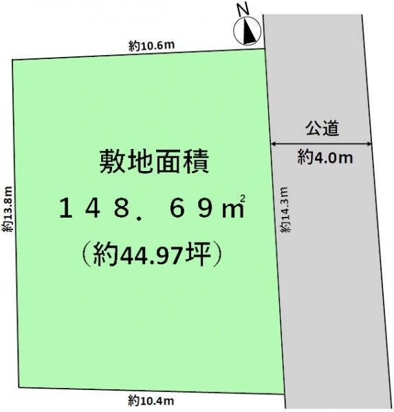 土地 練馬区関町南4丁目 西武新宿線武蔵関駅 5880万円