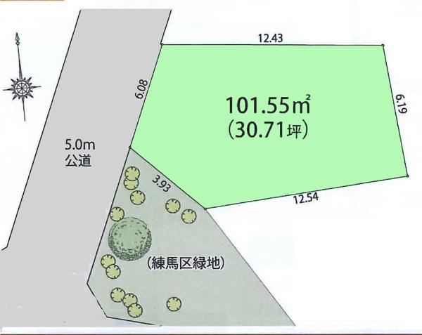 土地 練馬区東大泉6丁目 西武池袋線大泉学園駅 4980万円