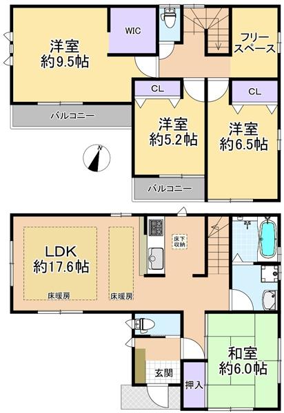 新築戸建 練馬区南田中1丁目 西武新宿線井荻駅 5998万円
