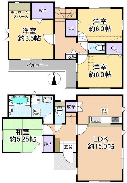 新築戸建 練馬区下石神井5丁目 西武新宿線上井草駅 5940万円