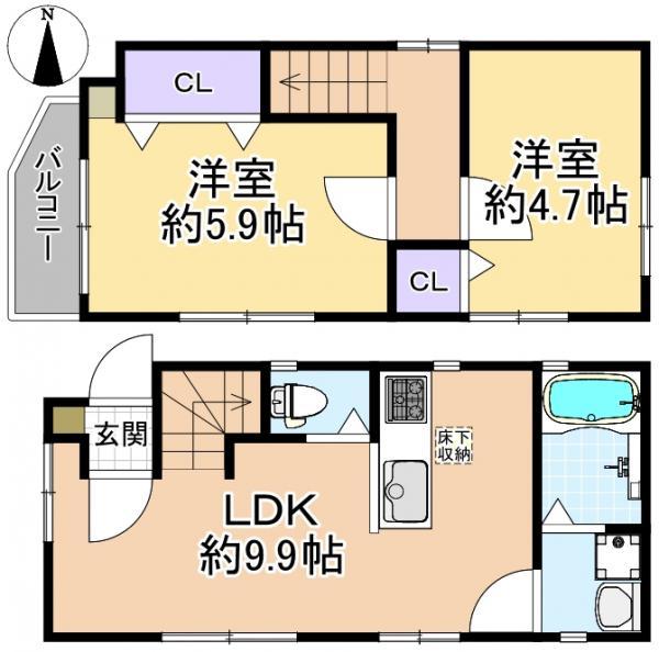 新築戸建 杉並区天沼1丁目 JR中央・総武線荻窪駅 4680万円