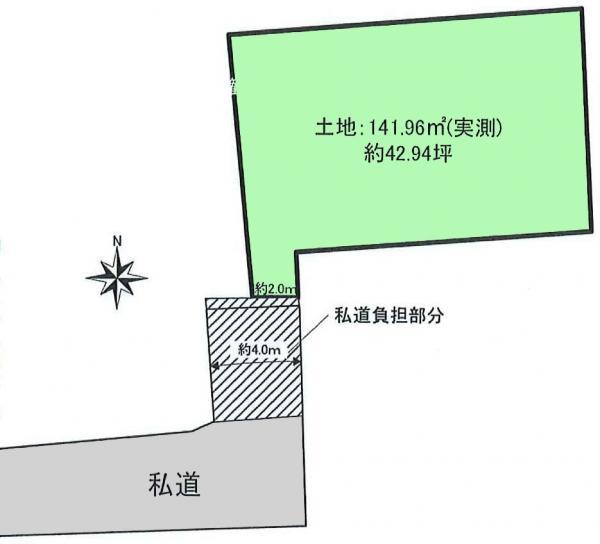 土地 練馬区大泉町2丁目 西武池袋線石神井公園駅 2780万円