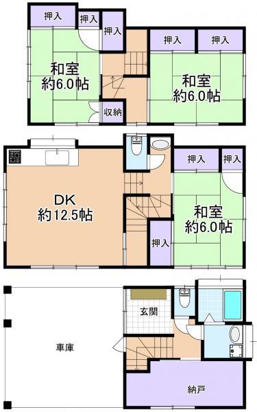 中古戸建 練馬区西大泉5丁目 西武池袋線保谷駅 2480万円