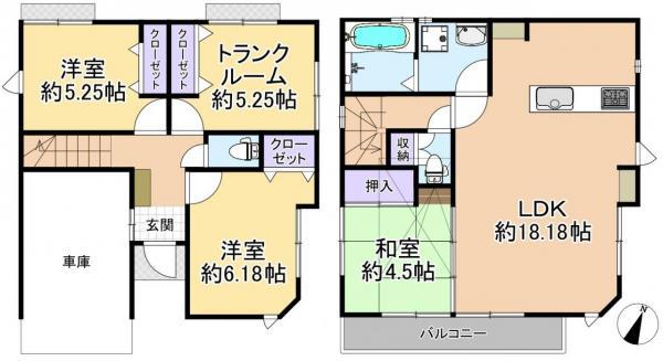 新築戸建 板橋区徳丸6丁目 都営三田線高島平駅 5180万円