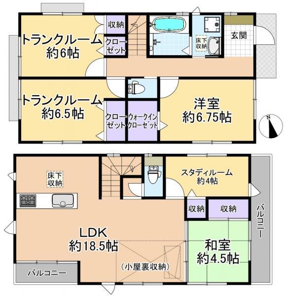 新築戸建 練馬区下石神井6丁目 西武新宿線上井草駅 6080万円