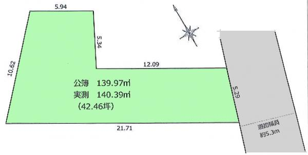 土地 東京都練馬区土支田4丁目 有楽町線地下鉄成増駅 3290万円