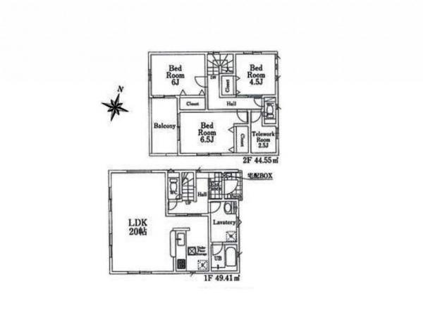 新築戸建 所沢市金山町 西武池袋線西所沢駅 4050万円