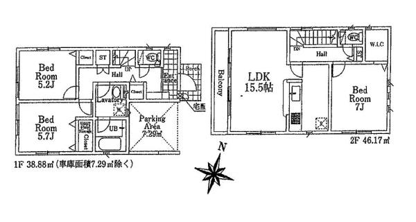 新築戸建 所沢市金山町 西武池袋線西所沢駅 3680万円
