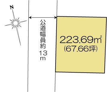 土地 水戸市元吉田町 JR常磐線(取手〜いわき)水戸駅 1350万円