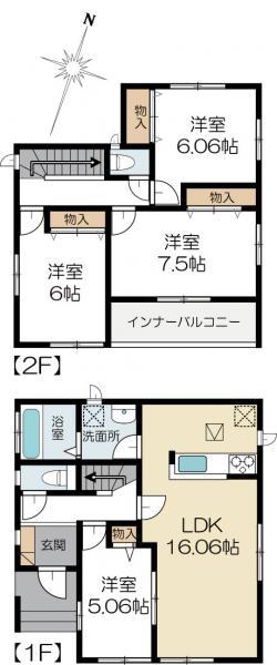 新築戸建 水戸市浜田2丁目 JR常磐線(取手〜いわき)水戸駅 1990万円