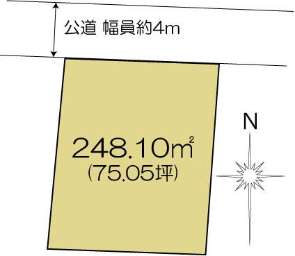 土地 水戸市千波町 JR常磐線(取手〜いわき)水戸駅 1250万円