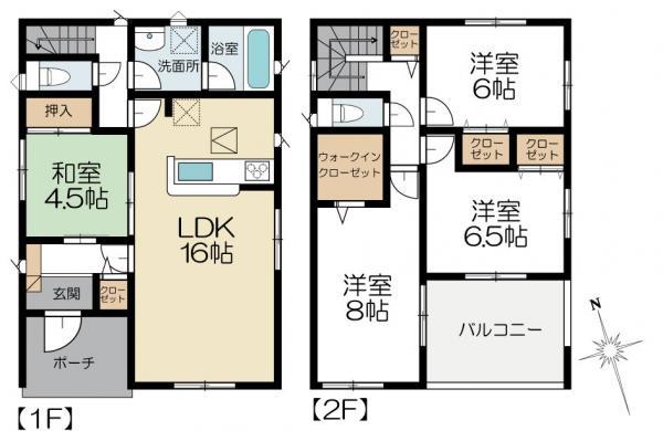 新築戸建 水戸市見川3丁目 JR常磐線(取手〜いわき)水戸駅 2080万円