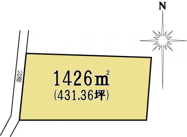 土地 茨城県水戸市吉沢町 JR常磐線(取手~いわき)水戸駅 2000万円