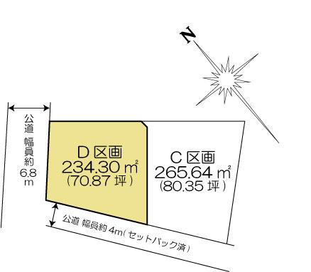 土地 茨城県水戸市金町3丁目1080 JR常磐線(取手~いわき)水戸駅 860万円