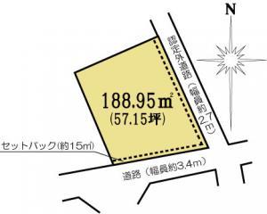 土地 茨城県水戸市東原2丁目4716-8 JR常磐線(取手~いわき)水戸駅 13000000