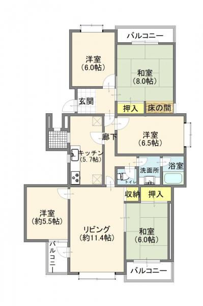 中古マンション 柏市松葉町4丁目 千代田常磐線北柏駅 1390万円