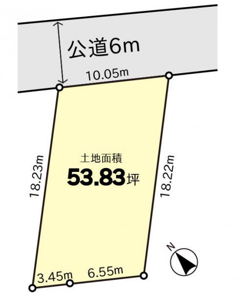 土地 千葉県野田市日の出町 東武野田線川間駅 880万円