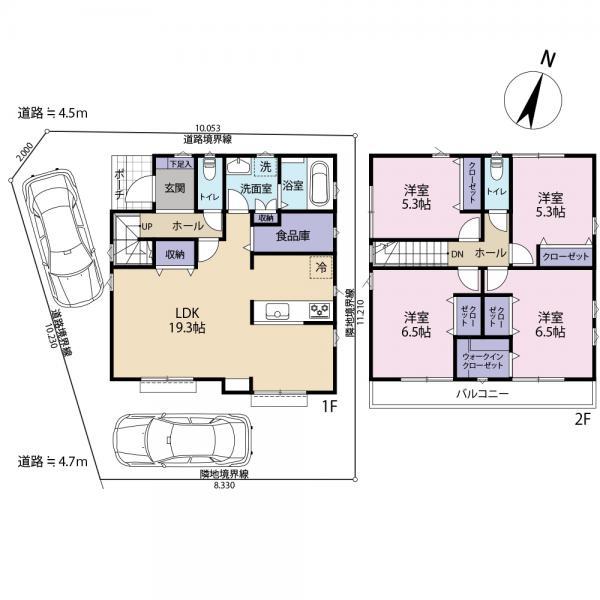 土地 さいたま市中央区八王子5丁目 JR埼京線与野本町駅 2180万円