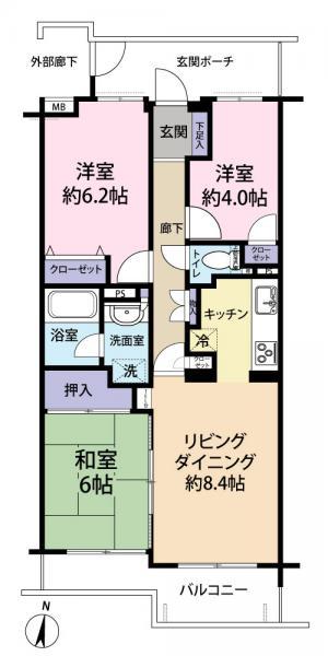 中古マンション さいたま市南区辻5丁目 JR埼京線北戸田駅 2380万円