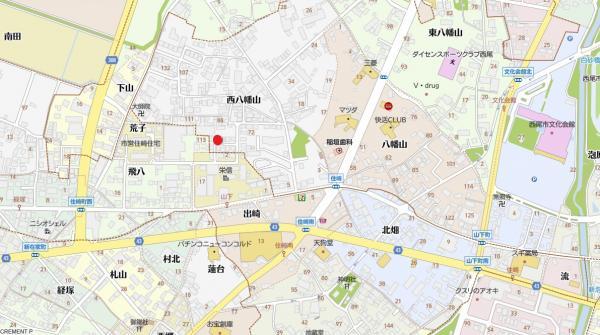 土地 西尾市山下町西八幡山 名鉄西尾線西尾駅 1580万円