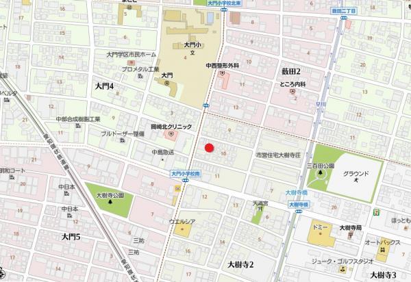 土地 岡崎市大樹寺2丁目 愛知環状鉄道大門駅 1198万円