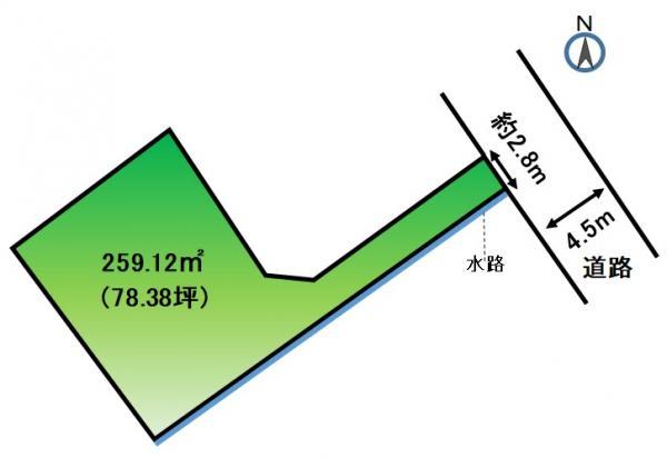 土地 静岡県浜松市浜北区根堅2487番地 東海道本線浜松駅 330万円