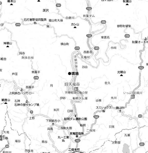 土地 静岡県浜松市天竜区月657番地11号 遠州鉄道西鹿島駅 100万円