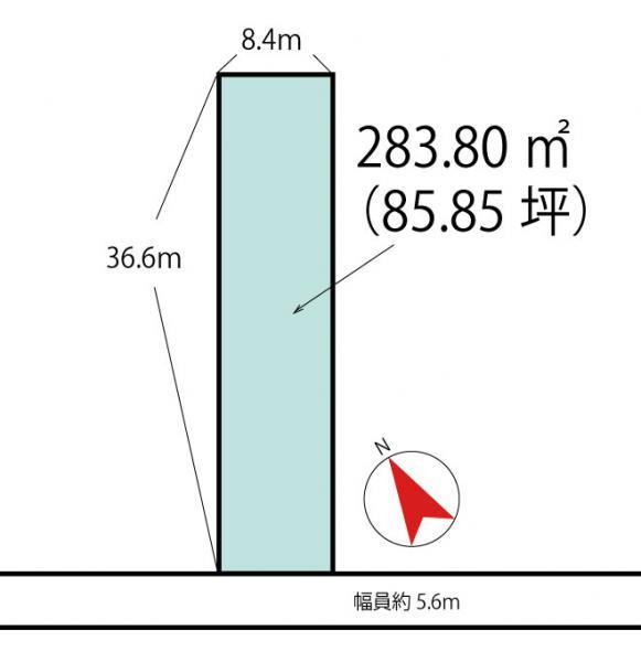 土地 高岡市熊野町 万葉線志貴野中学校前駅 1000万円