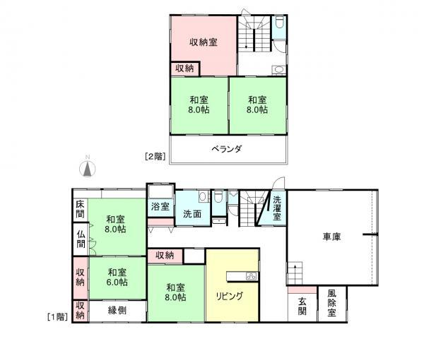 中古戸建 滑川市北野 あいの風とやま鉄道滑川駅 1700万円
