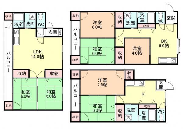 アパート 富山県高岡市関大町2-21 あいの風とやま鉄道高岡駅 1650万円