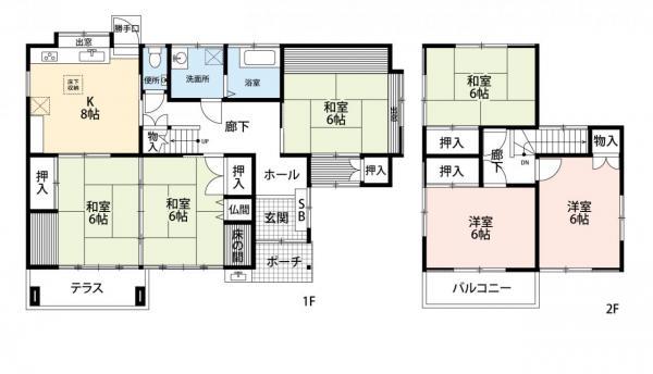 中古戸建 佐賀市開成6丁目133-30 JR長崎本線佐賀駅 2100万円