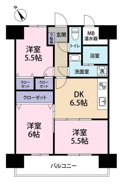 中古マンション 福岡県福岡市東区松田3丁目24-8 JR篠栗線柚須駅 1350万円