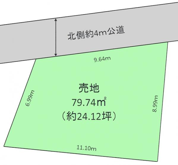 土地 所沢市大字下安松 西武池袋線秋津駅 1100万円