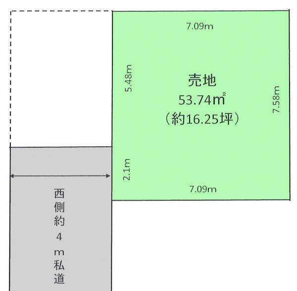 土地 川口市大字道合 JR武蔵野線東浦和駅 480万円
