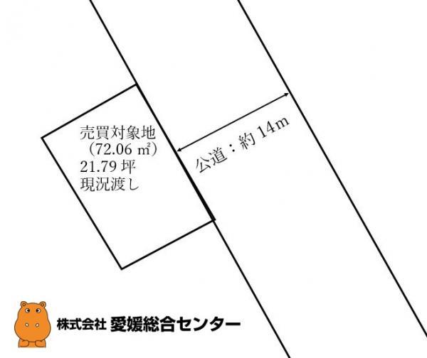 土地 今治市北浜町 JR予讃線今治駅 50万円