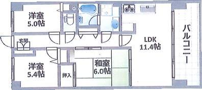 中古マンション 今治市北日吉町3丁目 JR予讃線今治駅 1180万円