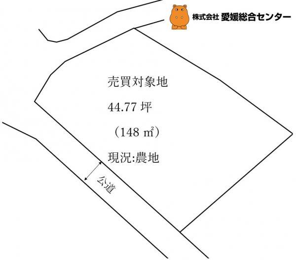 土地 今治市高橋 JR予讃線伊予富田駅 40万円