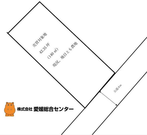 土地 今治市新谷 JR予讃線伊予富田駅 50万円