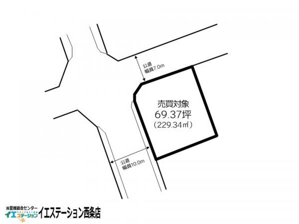 土地 西条市飯岡 JR予讃線中萩駅 450万円