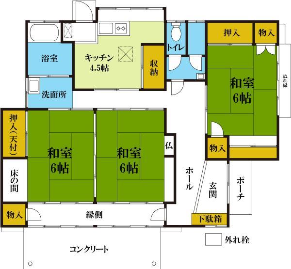 中古戸建 日光市土沢1966-13 JR日光線下野大沢駅 530万円