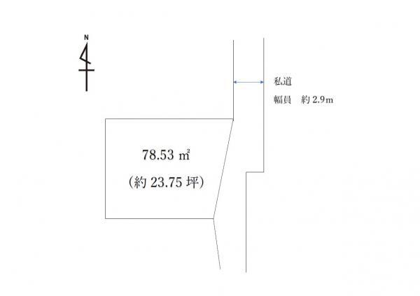土地 鹿沼市上殿町925-8 東武日光線新鹿沼駅 130万円
